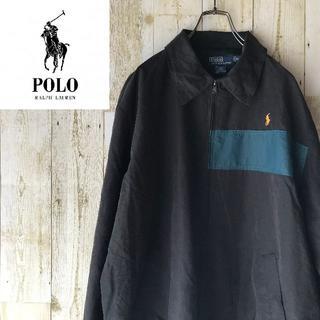 ポロラルフローレン(POLO RALPH LAUREN)のポロ ラルフローレン レア スイングトップ ブラック XL ロゴ刺繍(ブルゾン)
