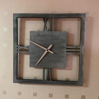おしゃれでモダンな掛け時計 素材 鋳物(掛時計/柱時計)