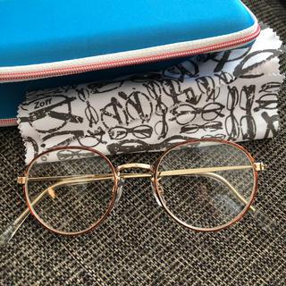 ゾフ(Zoff)の伊達眼鏡 ケース付き(サングラス/メガネ)