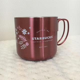 Starbucks Coffee - スタバ  ホリデー 2017 ステンレス マグ フラワー ピンク 355ml