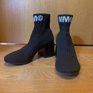 エムエムシックス(MM6)のMM6 ショートブーツ(ブラック)(ブーツ)