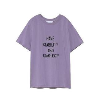 ミラオーウェン(Mila Owen)の新品!ミラオーウェン ハイメッシュロゴTシャツ ラベンダー(Tシャツ(半袖/袖なし))