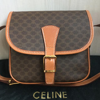 celine - 極美品♡CELINEセリーヌ マカダム  ブラゾン ショルダーバッグ