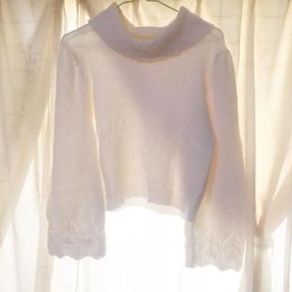 トランテアンソンドゥモード(31 Sons de mode)のニット 白 ホワイト (ニット/セーター)