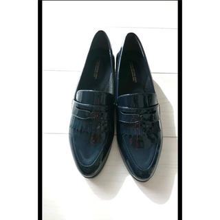 ランダ(RANDA)の【RANDA】ローファー ネイビー Lサイズ(ローファー/革靴)