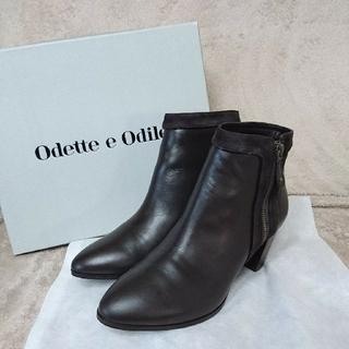 オデットエオディール(Odette e Odile)の【新品】Odette e Odile ショートブーツ 24.5㎝(ブーツ)