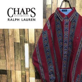 Ralph Lauren - 【激レア】チャップスラルフローレン☆ネイティブ柄マルチストライプシャツ 90s