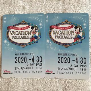 ディズニー(Disney)のディズニーリゾートライン2DAYフリーきっぷ(鉄道乗車券)
