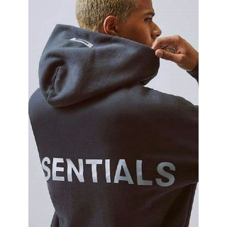 FEAR OF GOD - M FOG Essentials Pullover Hoodie Black