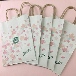 Starbucks Coffee - 新品 スターバックス SAKURA 2020  紙袋  5枚 感動の内側 黄金桜