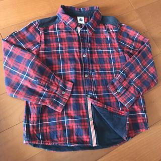 PETIT BATEAU - プチバトー チェックシャツ ジャケット 男の子 114cm 6歳