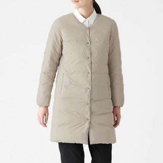 MUJI (無印良品) - タグなし 新品 無印良品 オーストラリアダウン ノーカラー コート