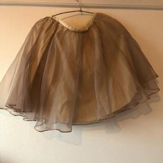 オペーク(OPAQUE)のOPAQUEシフォンスカート(ひざ丈スカート)