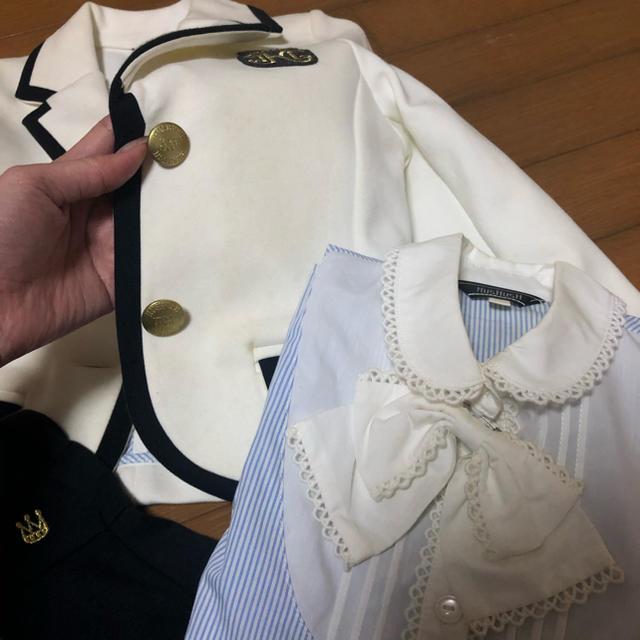 HusHush(ハッシュアッシュ)の110 女の子 ジャケット スカート ブラウス セット HusHusH キッズ/ベビー/マタニティのキッズ服女の子用(90cm~)(ドレス/フォーマル)の商品写真