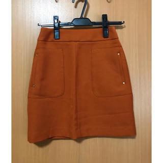 エイチアンドエム(H&M)のH&M オレンジミニスカート(ミニスカート)