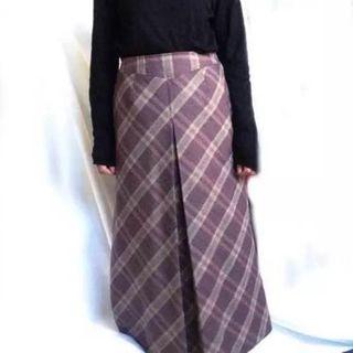 Lochie - タイムセール 美品 モーヴ くすみ紫 チェック スカート