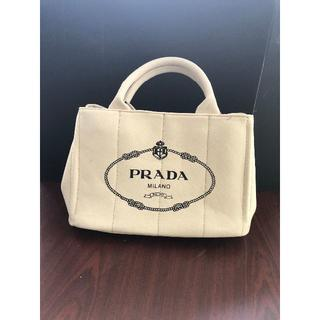 PRADA - PRADA プラダ カナパ ショルダーバッグ ホワイト