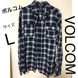 ボルコム(volcom)のボルコム  チェックシャツ ネルシャツ Lサイズ VOLCOM(シャツ)
