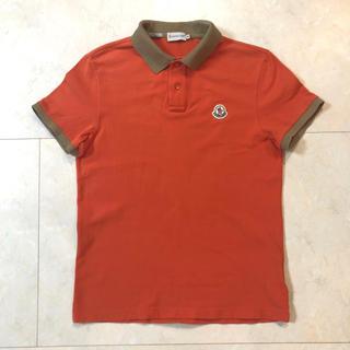 MONCLER - モンクレール MONCLER メンズ ポロシャツ M オレンジ×カーキ