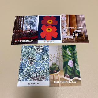 マリメッコ(marimekko)のmarimekko      ポストカード5枚(日用品/生活雑貨)
