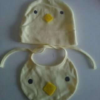 ポンポネット(pom ponette)のポンポネットベビー スタイ 帽子セット(検メゾピアノ出産準備 新生児(帽子)