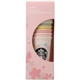 スターバックスコーヒー(Starbucks Coffee)のSAKURA2020リユーザブルカップ473mlセット&バッグ(タンブラー)