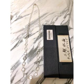 ミツコシ(三越)の三越 水晶 ネックレス ロング 美品(ネックレス)