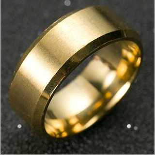 チタンブラックリング (ゴールド)  サイズ:28号(リング(指輪))