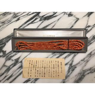 ミツコシ(三越)のYoshida様専用ページ 三越 ピンク珊瑚ネックレス(ネックレス)