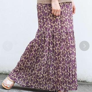 Kastane - ipkz様【Kastane】花柄プリーツティアードスカート