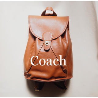 COACH - 【極美品 レア】Old Coach リュック 大型 vintage