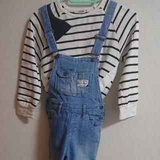イッカ(ikka)の美品 SLAP SLIPボーダーカットソー、ikkaデニムセット(Tシャツ/カットソー)
