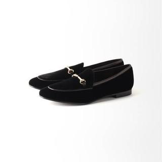 スピックアンドスパン(Spick and Span)の再値下!ファビオルスコーニ 36 新品ベルベット ローファー 革靴 スリッポン(ローファー/革靴)