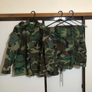 中古 ウッドランド BDU  迷彩服 上下セット パンツ2枚 サバゲー 装備(戦闘服)