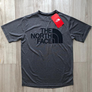 THE NORTH FACE - 【海外限定】ノースフェイス キッズ 速乾 ロゴTシャツ グレー 160cm