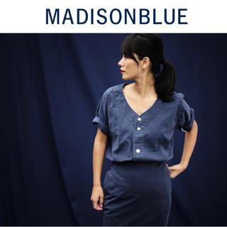 MADISONBLUE - 【MADISON BLUE(マディソンブルー)】バックサテンベースボールシャツ
