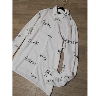 ZARA - ZARA ザラ 長袖シャツ 英語柄シャツ ゆったり サイズ40 サイズL メンズ