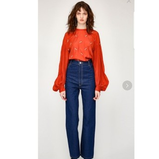 moussy - moussy retro blue hw straight 23inch