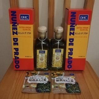ディーエイチシー(DHC)のDHC 食用 エクストラバージン オリーブオイル 2本セット (オマケ付き) (調味料)