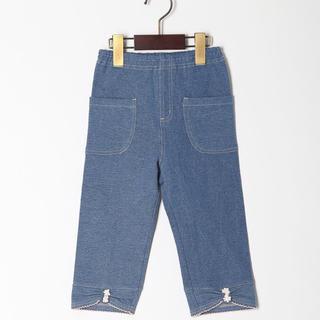 ファミリア(familiar)の新品 タグ付 SOURIS スーリー ニットデニム パンツ 90cm(パンツ/スパッツ)