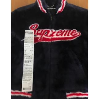 Supreme - supreme faux fur varsity jacket Sサイズ