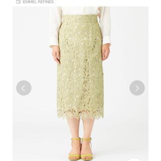 ジュエルチェンジズ(Jewel Changes)のEMMEL NEFINES♡ケミカルレースIラインスカート(ひざ丈スカート)