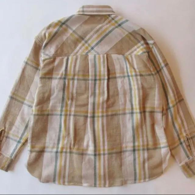 UNUSED(アンユーズド)の【半額以下】 UNUSED US1698 チェック柄ネルシャツ  ベージュM メンズのトップス(シャツ)の商品写真