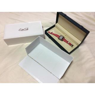 ガガミラノ(GaGa MILANO)のガガミラノ時計 ピンク 美品 ケース 箱付き かわいい 腕時計 百貨店で購入(腕時計)