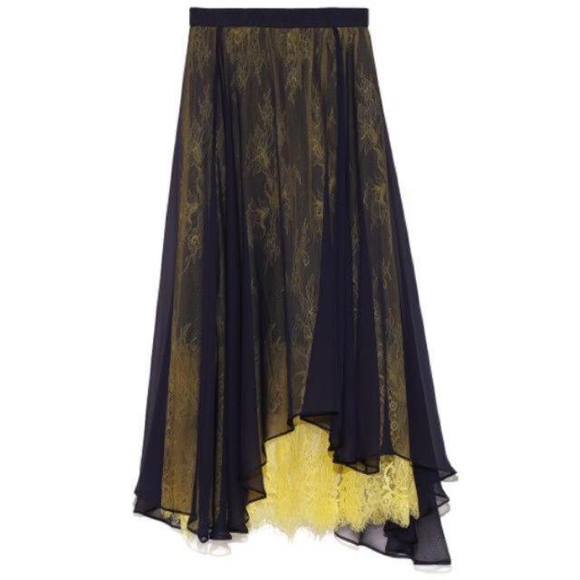 FRAY I.D(フレイアイディー)のシースルーエアリースカート  レディースのスカート(ロングスカート)の商品写真