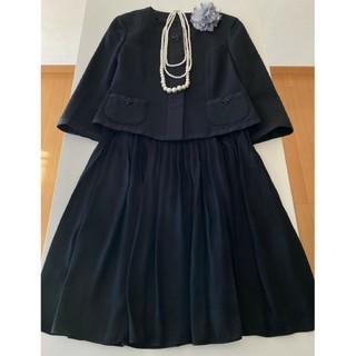 Courreges - courreges 黒 スカートスーツ フォーマル セレモニー ママスーツ
