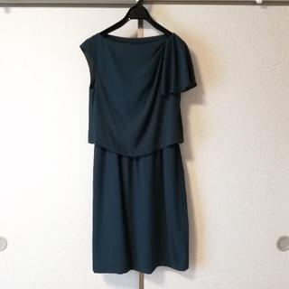 グリーンレーベルリラクシング(green label relaxing)のグリーン パーティードレス(ミディアムドレス)
