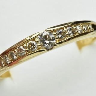 大きいサイズ K18 合計 0.50ct ダイヤモンドリング 25号  (リング(指輪))