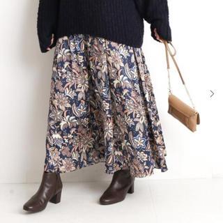 IENA SLOBE - slobe iena  オリエンタルプリントボリュームスカート