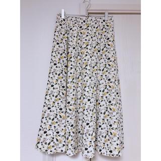 GU - ジーユー  花柄 フレアスカート